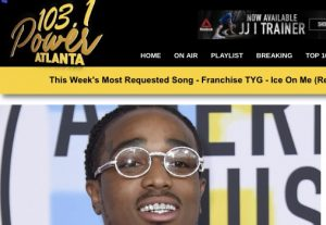 I will play your music on Power 103 Atl
